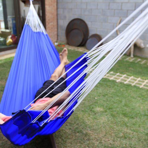 Rede Dormir Azul Royal Decor Kalma