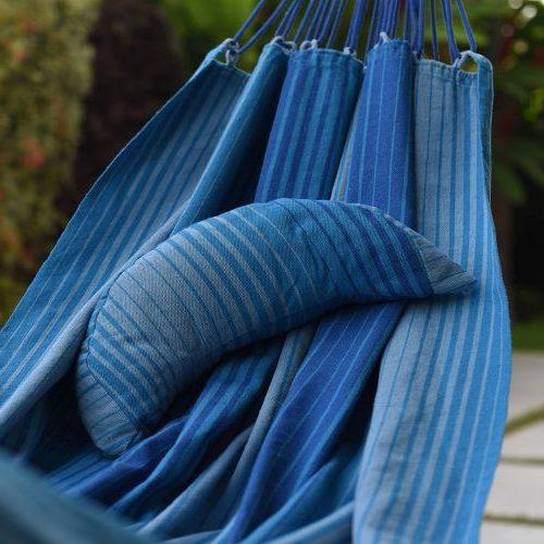 Rede de descanso Kalma Adorna Mistura Fina Azul Maragogi
