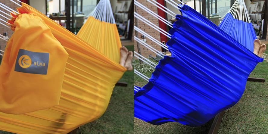 Rede Decor Kalma amarela e azul