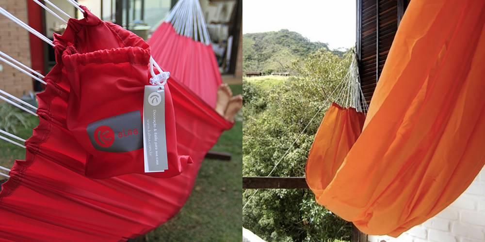 Redes Decor de descanso nas cores cereja e laranja