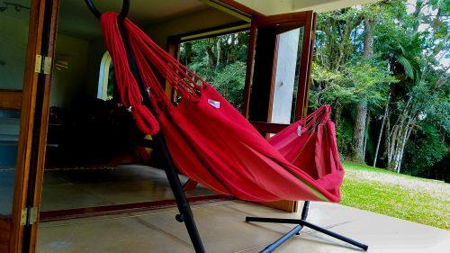 Rede de descanso vermelha hibisco Kalma